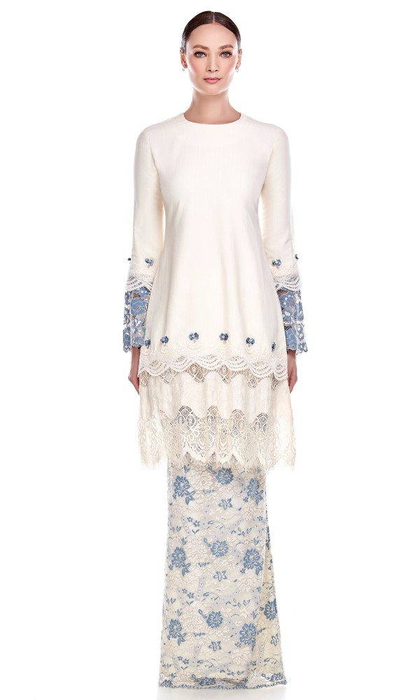 Quntum Kurung in Dusty Blue